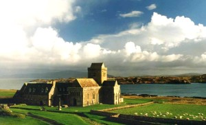 The Abbey on the Isle of Iona established by Columba