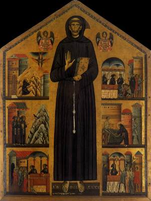 The oldest known icon of St Francis ca 1230